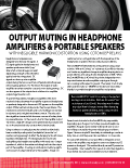 Output Muting in Headphone Amplifiers & Portable Speakers