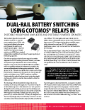 MOSFET Relays - Dual-Rail Battery Switching Using CotoMOS Relays