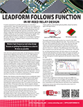 Optimized leads are critical for good RF performance.