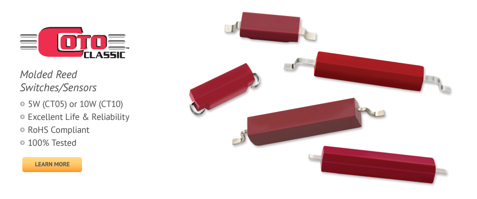 Coto Classic Molded Reed Switches Sensors