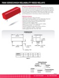 7000 Series/High Reliability Reed Relays