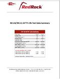 RedRock Life Test Data Summary
